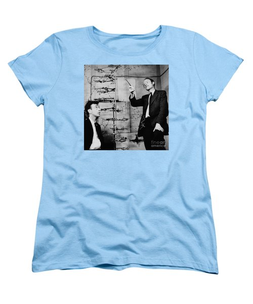 Watson And Crick Women's T-Shirt (Standard Cut) by A Barrington Brown and Photo Researchers