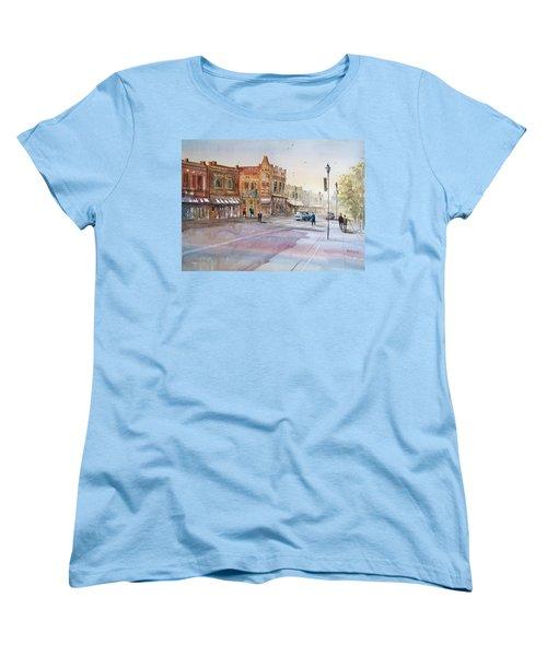 Waupaca - Main Street Women's T-Shirt (Standard Cut) by Ryan Radke