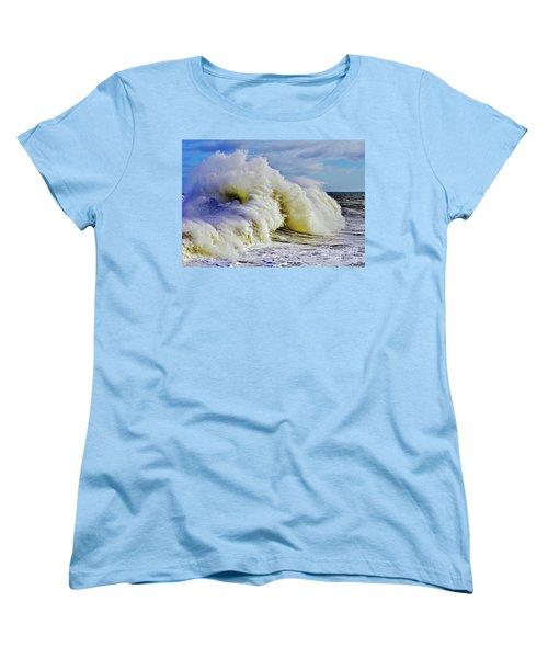 Moody Surf Women's T-Shirt (Standard Cut) by Michael Cinnamond