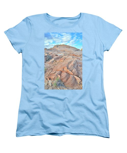 Wave Of Sandstone In Valley Of Fire Women's T-Shirt (Standard Cut) by Ray Mathis