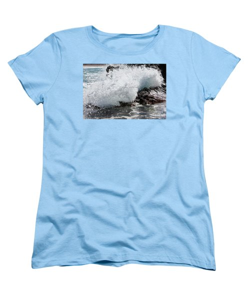 Wave Smash Women's T-Shirt (Standard Cut) by Nicholas Burningham