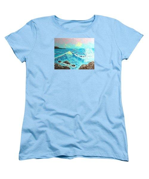 Waves Women's T-Shirt (Standard Cut) by Brenda Bonfield