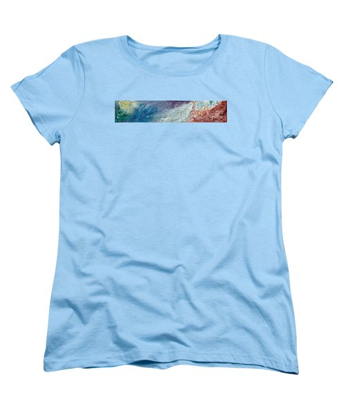 Waves Of Color Women's T-Shirt (Standard Cut) by Gallery Messina