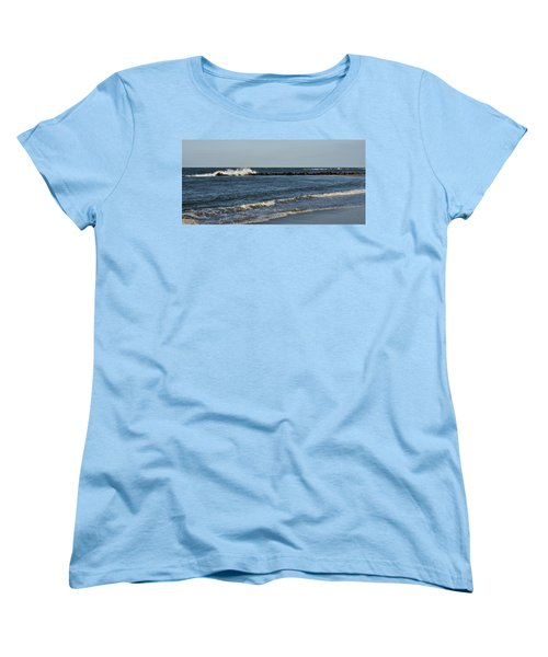 Women's T-Shirt (Standard Cut) featuring the photograph Waves by Sandy Keeton