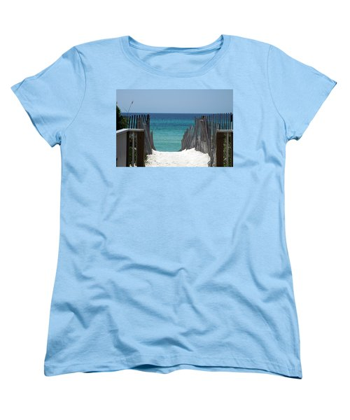 Way To The Beach Women's T-Shirt (Standard Cut)