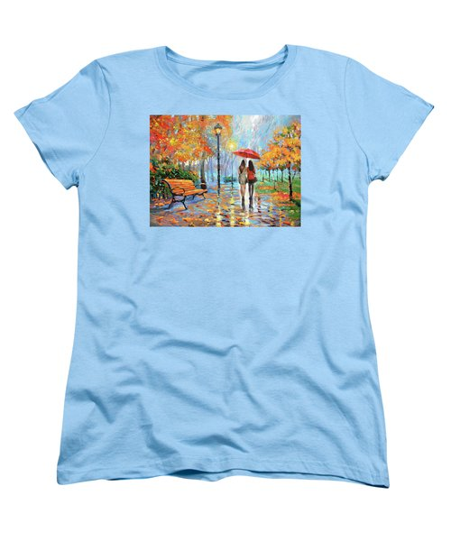 Women's T-Shirt (Standard Cut) featuring the painting We Met In Park          by Dmitry Spiros