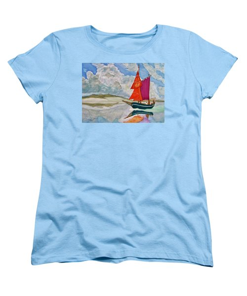 We Sailed Upon A Sea Of Glass Women's T-Shirt (Standard Cut) by Rand Swift