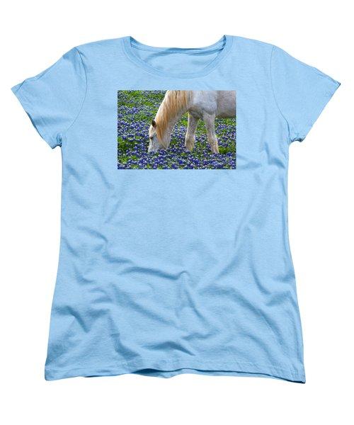 Weeding The Garden Women's T-Shirt (Standard Cut) by Gary Holmes