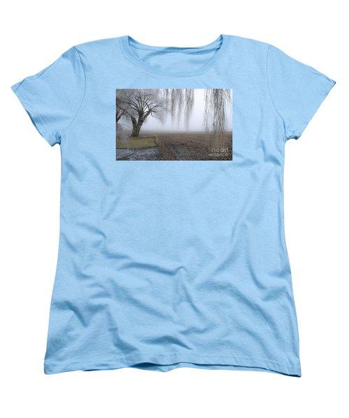 Weeping Frozen Willow Women's T-Shirt (Standard Cut) by Amy Fearn