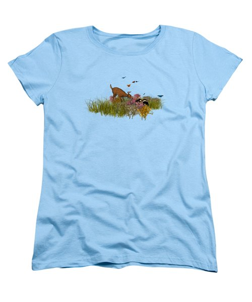 Women's T-Shirt (Standard Cut) featuring the digital art Welcome Spring by Methune Hively