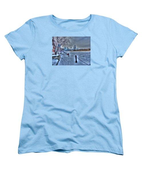 West From Navy Pier Women's T-Shirt (Standard Cut) by David Bearden