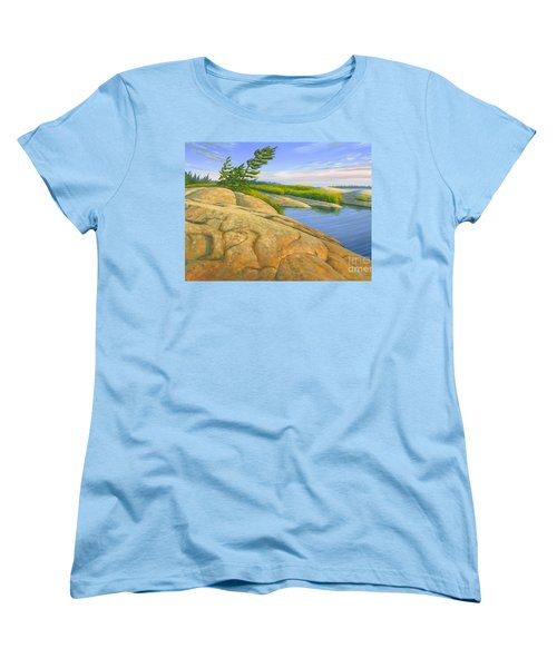 Women's T-Shirt (Standard Cut) featuring the painting Wind Swept by Michael Swanson