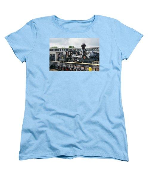 Western And Atlantic 4-4-0 Steam Locomotive Women's T-Shirt (Standard Cut) by John Black