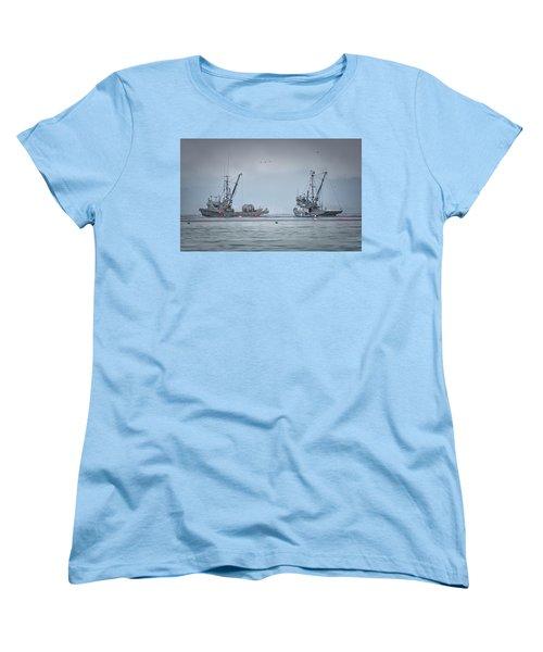 Western Gambler And Marinet Women's T-Shirt (Standard Cut) by Randy Hall