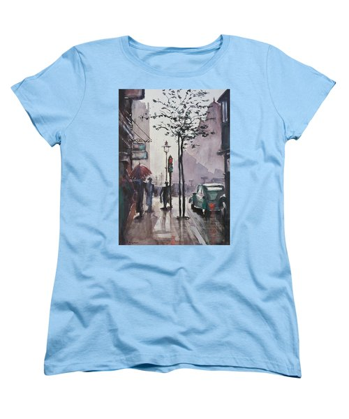 Women's T-Shirt (Standard Cut) featuring the painting Wet Afternoon by Geni Gorani