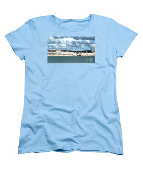 Women's T-Shirt (Standard Cut) featuring the photograph Weymouth Seafront by Baggieoldboy
