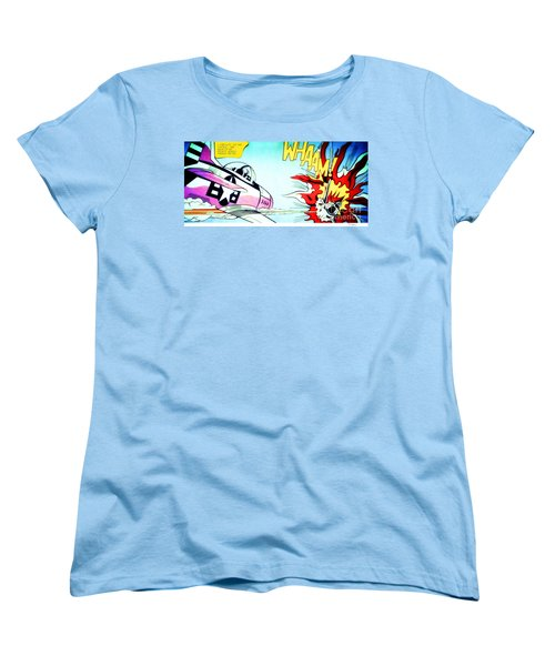 Whaam Women's T-Shirt (Standard Cut) by Roy Lichtenstein