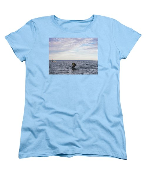 Whale Watching In Canada Women's T-Shirt (Standard Cut) by Trace Kittrell
