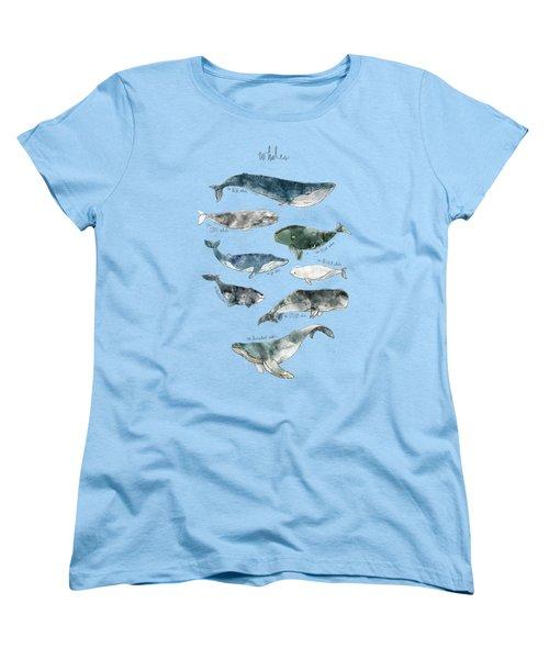 Whales Women's T-Shirt (Standard Cut) by Amy Hamilton