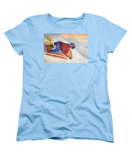Women's T-Shirt (Standard Cut) featuring the painting Wheee by Marilyn Jacobson