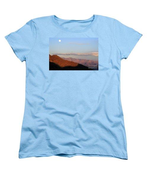 Women's T-Shirt (Standard Cut) featuring the photograph When The Mountains Turn Pink... by Paula Guttilla
