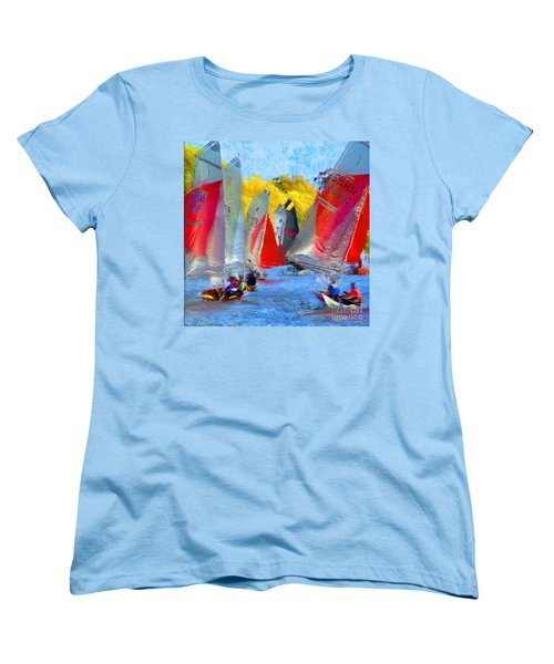 Women's T-Shirt (Standard Cut) featuring the photograph When The Wind Blows by LemonArt Photography