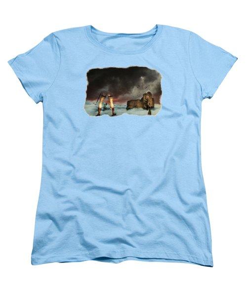 Where Giants Dwell Women's T-Shirt (Standard Cut) by Terry Fleckney