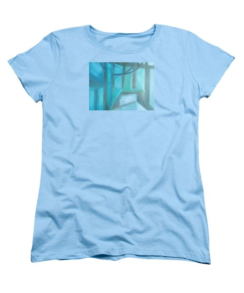 Women's T-Shirt (Standard Cut) featuring the painting Where Is The Road? by Min Zou