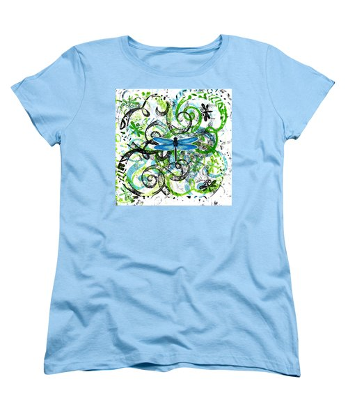 Whimsical Dragonflies Women's T-Shirt (Standard Cut) by Genevieve Esson