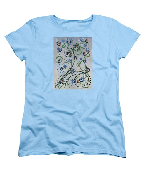 Women's T-Shirt (Standard Cut) featuring the painting Whippersnapper's Whim by Holly Carmichael