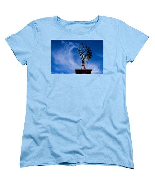 Whipping Up The Clouds Women's T-Shirt (Standard Cut) by Steven Parker