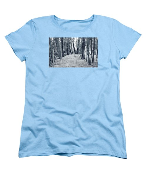 Women's T-Shirt (Standard Cut) featuring the photograph Whispering Forest by Wayne Sherriff