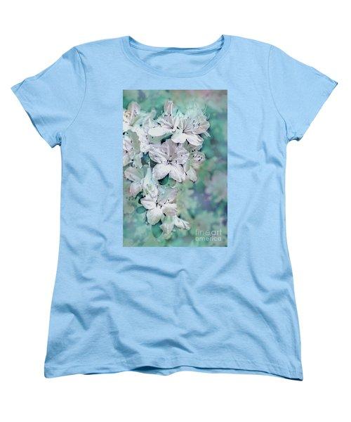 White Azaleas Women's T-Shirt (Standard Cut) by Sandy Moulder