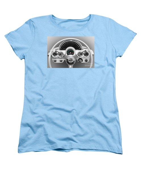 Women's T-Shirt (Standard Cut) featuring the photograph White C1 Dash by Dennis Hedberg