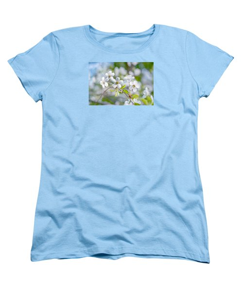 Women's T-Shirt (Standard Cut) featuring the photograph White Cherry Blossoms In Spring by Alexander Senin