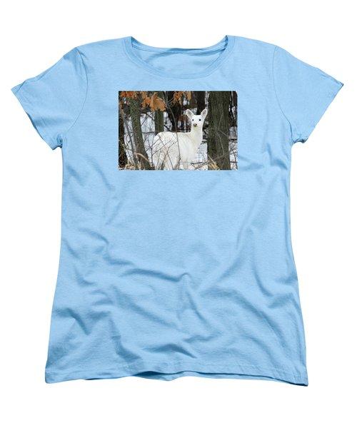 White Deer Vistor Women's T-Shirt (Standard Cut) by Brook Burling