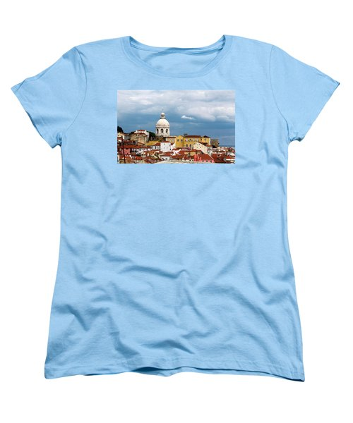 White Dome Against Blue Sky Women's T-Shirt (Standard Cut) by Lorraine Devon Wilke