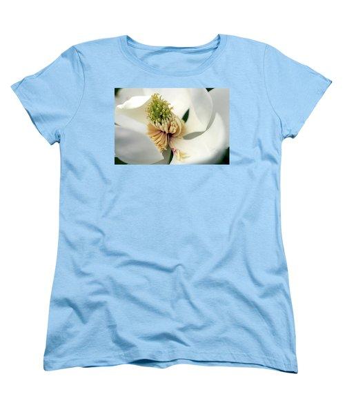 Women's T-Shirt (Standard Cut) featuring the photograph Magnolia Blossom by Meta Gatschenberger
