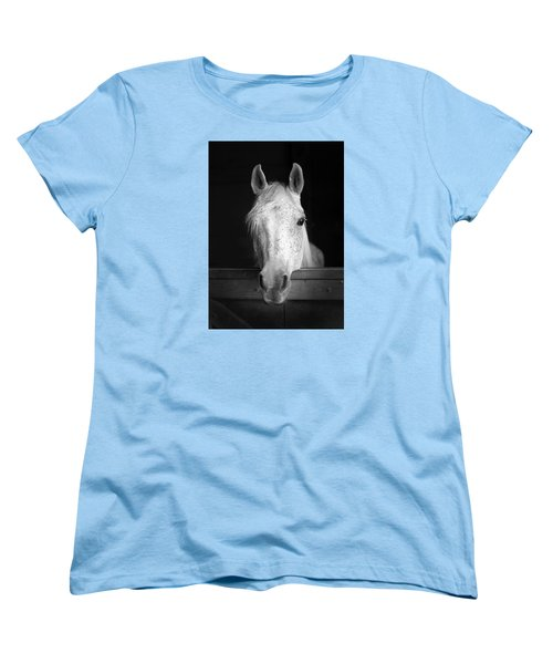 Women's T-Shirt (Standard Cut) featuring the photograph White Horse by Marion Johnson