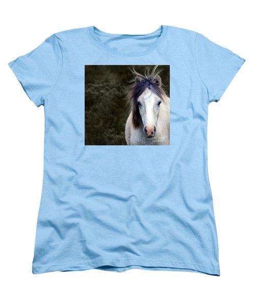 White Horse Women's T-Shirt (Standard Cut) by Sebastian Mathews Szewczyk