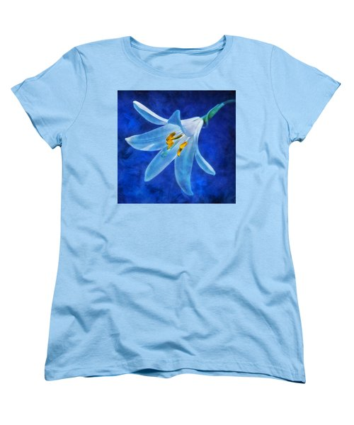 Women's T-Shirt (Standard Cut) featuring the digital art White Lilly by Ian Mitchell