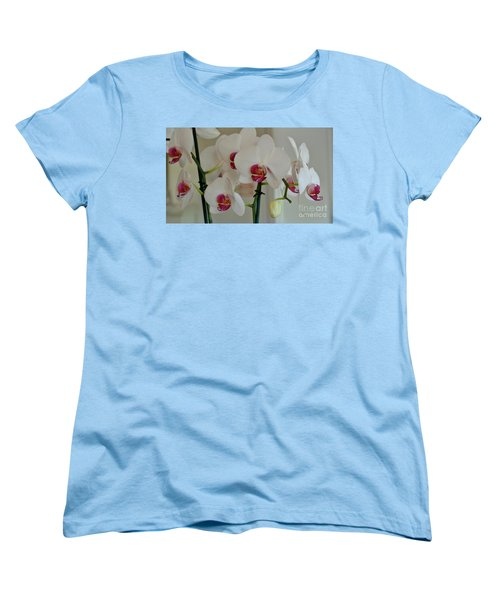 White Orchid Mothers Day Women's T-Shirt (Standard Cut) by Marsha Heiken