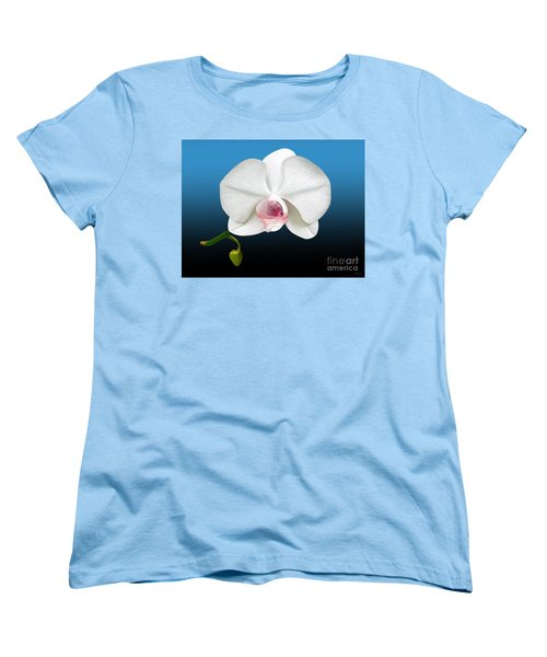 White Orchid Women's T-Shirt (Standard Cut) by Rand Herron