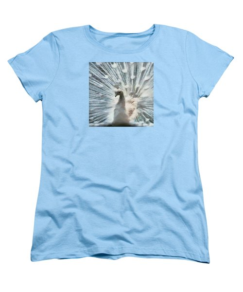 White Peacock Women's T-Shirt (Standard Cut) by Charmaine Zoe