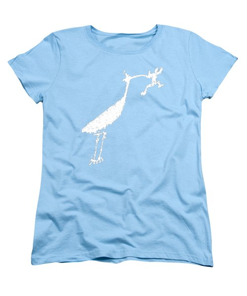 White Petroglyph Women's T-Shirt (Standard Cut) by Melany Sarafis