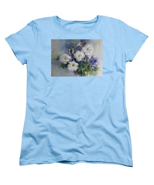 White Petunias Women's T-Shirt (Standard Cut)