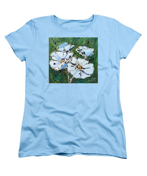 White Poppies Women's T-Shirt (Standard Cut) by Phyllis Howard