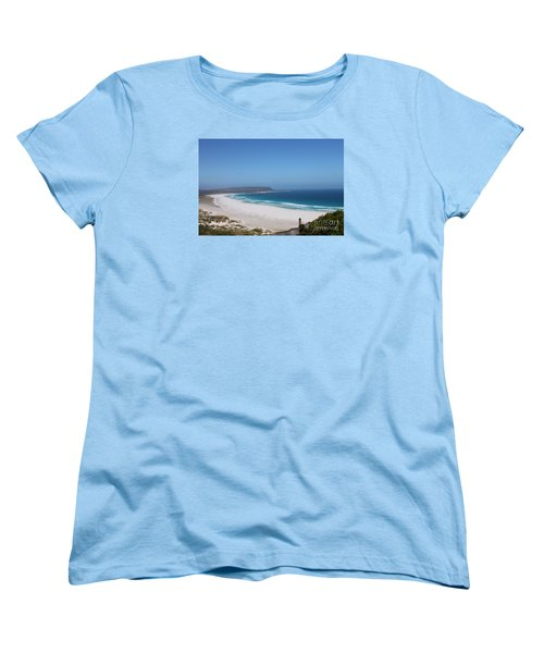 White Sand Beach Women's T-Shirt (Standard Cut) by Bev Conover