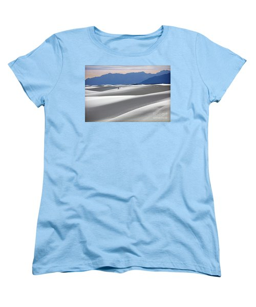 Women's T-Shirt (Standard Cut) featuring the photograph White Sands Hikers by Martin Konopacki