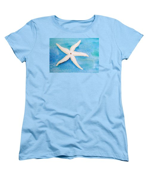 White Starfish Women's T-Shirt (Standard Cut) by Patricia Piffath